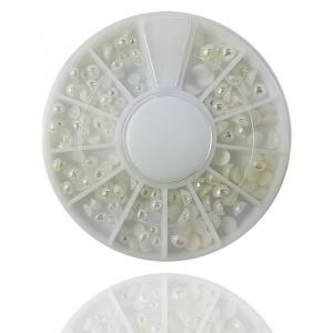 Pearly White | Nailart Halbperlen Rondell |Perlen