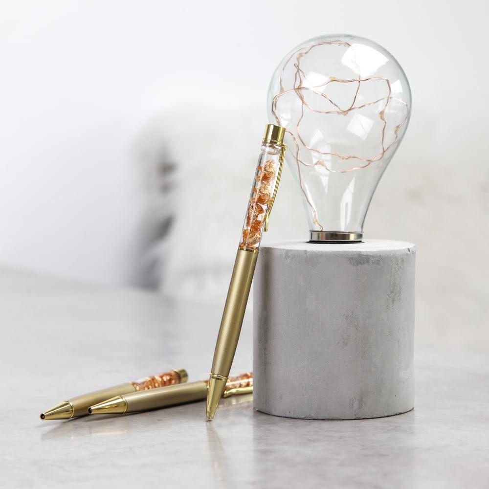 Kugelschreiber in edlem Gold
