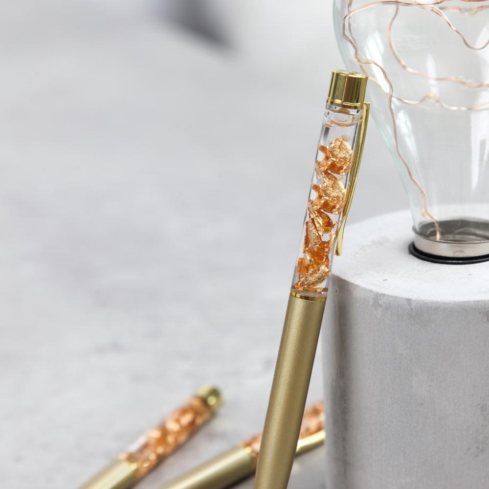 Kugelschreiber Gold metall