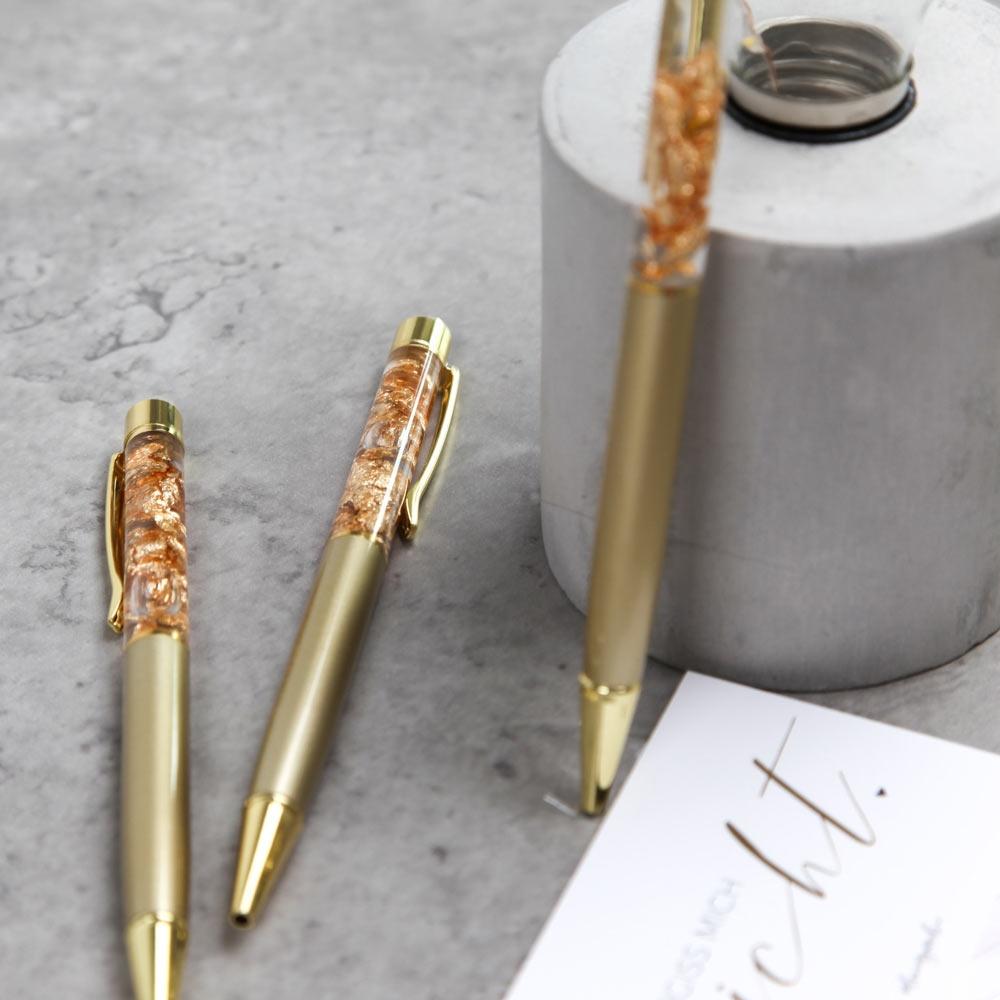 Kugelschreiber Gold Metall Clip