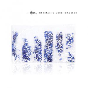 Kristall Tüte   Blau  Steinchen