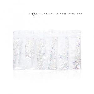 Kristall Tüte   Weiss irisierend  Steinchen