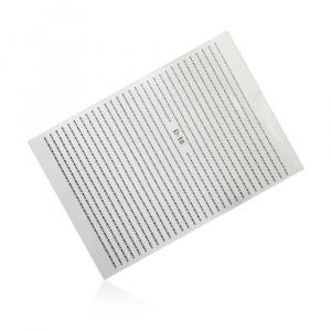 Stripes Pearl Mini D-18 | Silber |Sticker/Slider