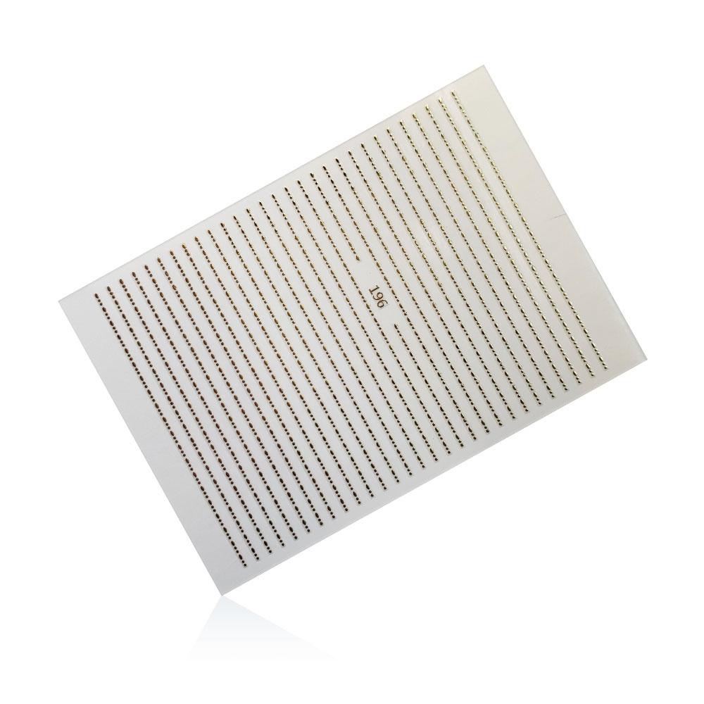 Stripes Pearl Mini 196   Gold  Sticker/Slider