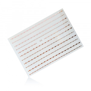 Stripes Pearl 378 | Rose Gold |Sticker/Slider