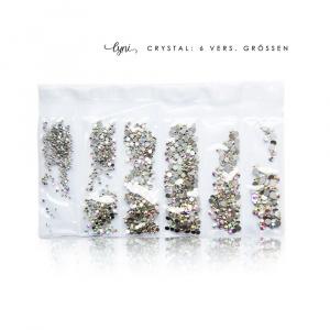 Kristall Tüte | Silber irisierend |Steinchen