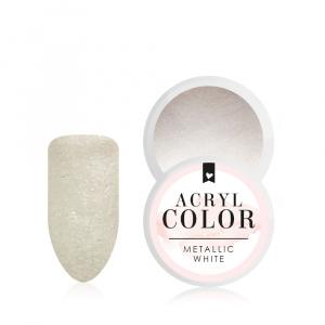 Acryl Color | Metallic White |Acryl Farbpowder