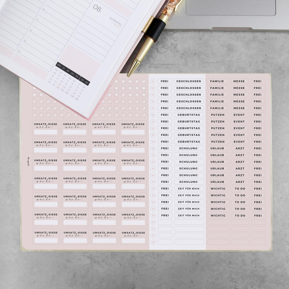 Stickerbogen (2er Set) für den Terminplaner