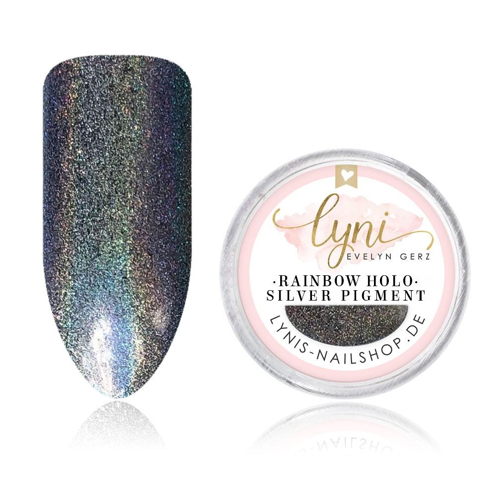 Rainbow Holo Silver Pigment als Pigmente/Flakes für Nageldesigner & Nagelstudios