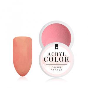 Acryl Color   Ombre Papaya als Acryl Farbpowder für Nageldesigner & Nagelstudios
