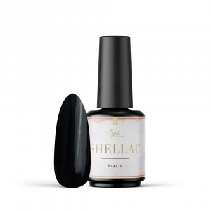 Shellac   Black 7,3ml als Shellac / Gellack Farben für Nageldesigner & Nagelstudios