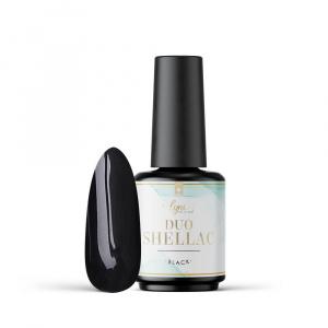 Duo Shellac Black | 7,3ml als Shellac / Gellack Farben für Nageldesigner & Nagelstudios