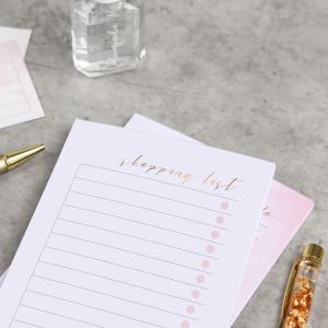 Einkaufsliste 'shopping list' Block als lovemynails für Nageldesigner & Nagelstudios