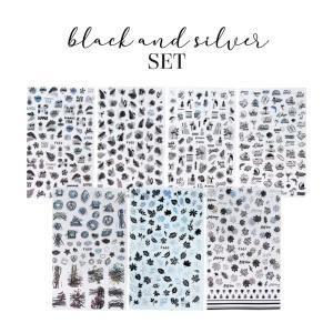 Sticker Black & Silver Set als Nailart Sets für Nageldesigner & Nagelstudios