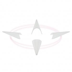 Stiletto Tips Clear | Nachfüllpack 500 Stück |Schablone/Tips